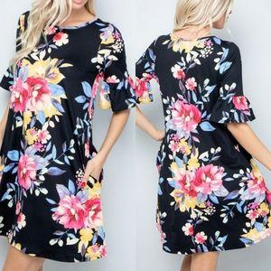 New! Plus Size Floral Paradise Dress